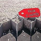 Pack 5 - 50m2 - Stabilisateur de Gravier 5cm Hauteur (10x10cm) - 1x10m (6,19€/m2)