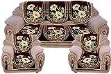 #10: Sofa Cover of Brown Polycotton Premium Quality by Vivek Homesaaz 10 Pieces Set