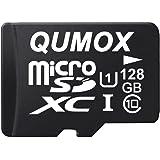 QUMOX 128GB Scheda Memoria Micro SD Memory Card Class 10 UHS-I da 128 GB ad Alta velocità velocità di Scrittura 30 MB/s veloc