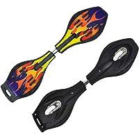Dhairya Wave Board ; Skate Board with Carry Bag LED Flash Colorful Lights on Wheels (Variation Color Design)(Multi Color…