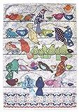 UCCELLI STROFINACCIO di MOLLYMAC Bella Cucina Home Decor. Grazie a te regalo, Matrimonio, Compleanno, salvietta Natalizia. Panno di Cucina Colorato Uccello Canoro Canovaccio - Made in United Kingdom - 100% cotone - 71 x 46 mm - Birds on a Wire