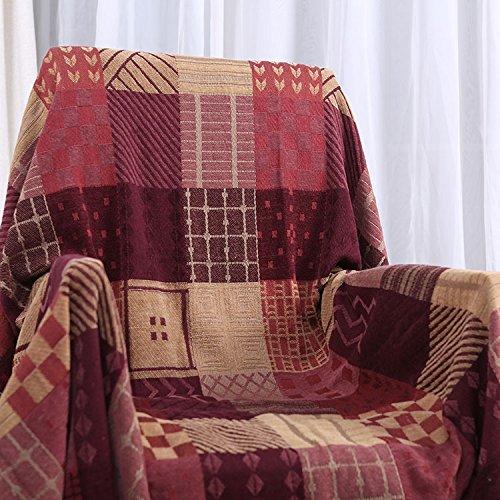 XYSFT Chenille Strick gestrickt, die Chenille Gewinde Decke, Sofa Decke, TV Bezug, Freizeit Decke, Gules, 210cm*250cm