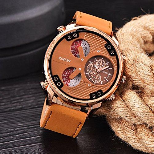 Quarz Armbanduhr Unisex Armbanduhr Herren Quartz Analog Sale Billige Uhren Herren Uhren Lederband Damen Uhren Braun