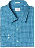 Arrow Men's Checkered Slim Fit Cotton Formal Shirt (AFVSH0246_40FS_Me. Green)