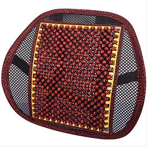 Perle di legno Comfort Sedile massaggiante Supporto con cuscino di sostegno posteriore lombare di raffreddamento a maglia ventilata per sedia da ufficio Sedia da ufficio