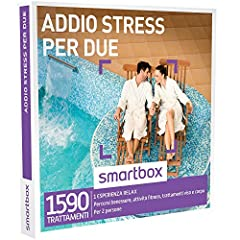 Idea Regalo - smartbox - Cofanetto Regalo - Addio Stress per Due - 1590 momenti rilassanti