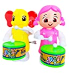 AK Store Toys Funny Key-Operated Cute Doll Girl and Elephant Drummer Toy with Drumming and Dancing Action for Kids…