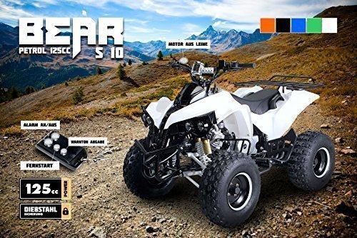 Kinder Quad S-10 125 cc Motor Miniquad 125 ccm weiss Warriorer