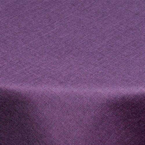 Textil Tischdecke Leinen-Optik 135x180cm oval mit FLECK-Schutz lila *pflegeleicht* Farbe wählbar