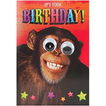 Hallmark Birthday Card Monkey Pop Up