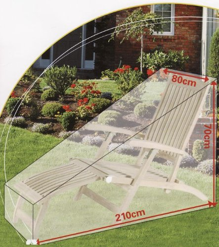 Liegestuhl-Abdeckung, Liegestuhl-Hülle Regenschutz Garten Schutzhülle Gartenliege Sonnenliege...