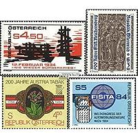Austria 1766,1767,1769,1770 (completa.edición.) 1984 guerra, Reichersberg, Tabak, FISITA (sellos para los coleccionistas)