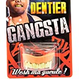 """Dientes postizos """"Gangsta""""dorado."""