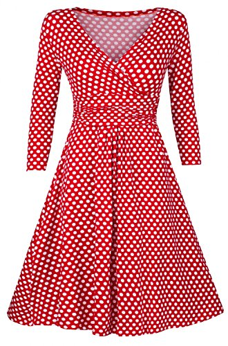 glamour-empire-womens-softly-draping-polka-dot-dress-summer-spot-dress-017-red-with-dots-uk-14-16