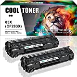Cool Toner 2-Pack Kompatibel für 83X CF283X für HP Laserjet Pro MFP M201DW M201N M201 M225DW Laserjet Tonerkartusche, Schwarz