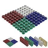 LaoSiJi, 100 sfere magnetiche da 5 mm per lavagne magnetiche, frigorifero 5 mm - 100 Stück 4 colori.