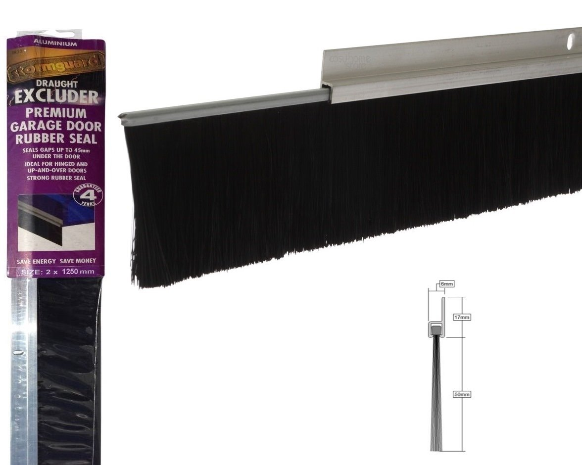 8foot 25m aluminium and brush draught excluder seal for the 8foot 25m aluminium and brush draught excluder seal for the bottom of a garage door 2 50mm brush amazon diy tools rubansaba