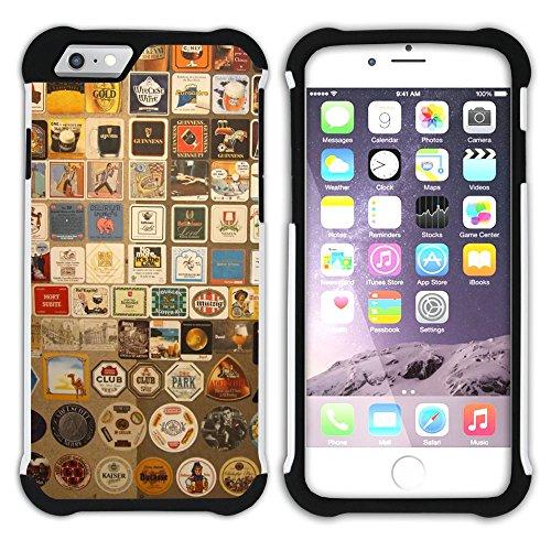 Graphic4You Colourful Umbrella Design Hart + Weiche Kratzfeste Hülle Case Schale Tasche Schutzhülle für Apple iPhone 6 Plus / 6S Plus Design #6