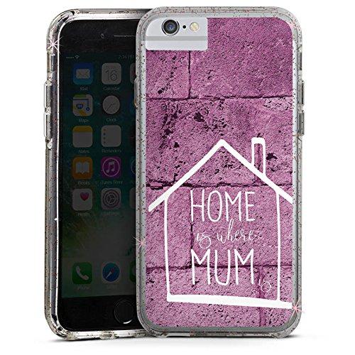 Apple iPhone 7 Bumper Hülle Bumper Case Glitzer Hülle Muttertag Mothersday Gift Bumper Case Glitzer rose gold
