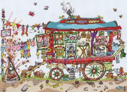 Bothy Threads Kreuzstichset, Motiv '– Gypsy Wagon (Gypsy Thread)