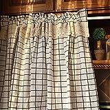 Demi-rideau,coton et lin/réseau/poussière/rideau court/pour/café/cuisine/porte de placard/décoratif/demi draperie/1pcs