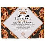 Nubian Soap schwarze Seife mit Hafer, Aloe & Vitamin E, 140g