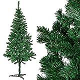 [en.casa] Künstlicher Weihnachtsbaum 210 cm groß - Christbaum mit weißen Schnee-Spitzen und Ständer für Weihnachten - Tannen-Baum beschneit Spritzguss - Naturgetreue Weihnachts-Deko
