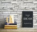 Carta da parati in mattoni bianchi impilati Carta da parati adesiva a buccia e stecca murale a contatto 50cm x 15m (19.6'X 590'), 0.15mm Cuccia in PVC impermeabile da cucina