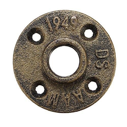 EsportsMJJ 3/4 Zoll verstärkt Bronze Flansch Eisen Rohr Boden Fitting Sanitär Gewinde (3 4 Eisen-rohr-flansch)