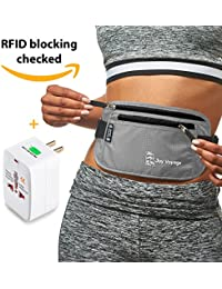 Rfid Money Belt For Travel With Worldwide Travel Adapter. Most Valuable Property Within Reach By Joy Voyage