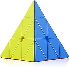 higadget High Speed Pyramid Stickerless Triangle Rubik Cube Puzzle (Random Colour)