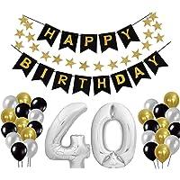 48 Stück Folienballon Set Luftballon Set Konfetti Luftballons Latex Ballons