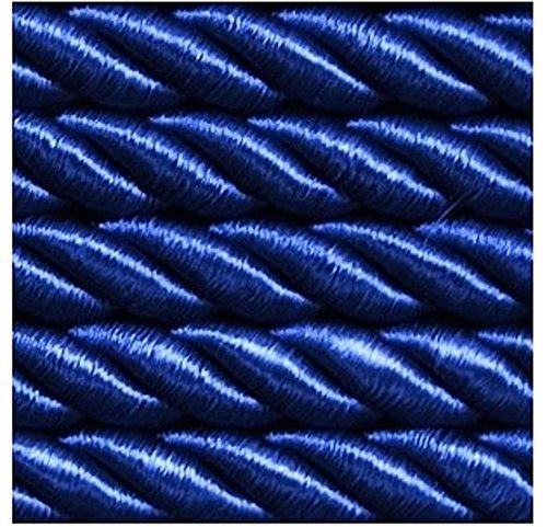 Mosel Avenue Art & Gobelin Studio 5,0 m Dekokordel Ø 8 mm Satinkordel Farbe Blau (1,2 €/m) Satinschnur Dekokordel Flechtschnur Atlaskordel Atlasschnur Kordel Schnur (Studio 5 5 Blaue)