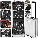 Valise à outils 929 pièces/outils Roulante poignée télescopique boite outils nombreux accessoires