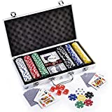 Casinoite 300 Pcs Diced Poker Chip Set With Denomination Toy