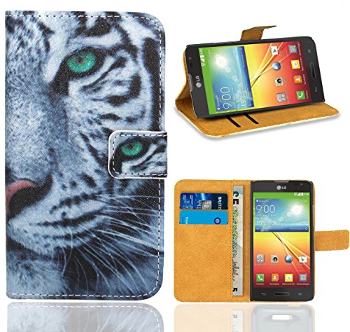 LG Optimus L70 / LG L70 Handy Tasche, FoneExpert Wallet Case Flip Cover Hüllen Etui Ledertasche Lederhülle Premium Schutzhülle für LG Optimus L70 / LG L70