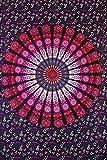 Future Handmade Bettwäsche für Doppelbetten, indische handgefertigte mehrfarbige Batik-Bettwäsche, Wandbehang,  Strandtuch, Hippie, Tapisserie, Bohemian, Yoga-Matte, 100% Baumwolle, dekoratives Zuhause, Tagesdecke, 100 % Baumwolle, multi, Design 3