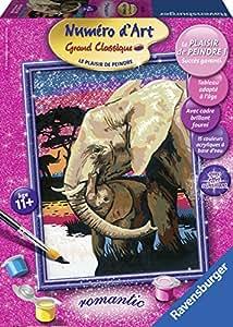 Ravensburger - 28152 - Numéro d'Art - Moyen Format - La famille éléphant