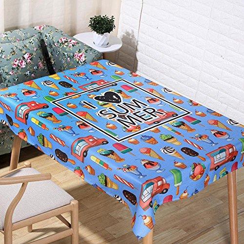 JIAAE Nordic pastorale dessin animé crème nappes naturelles lin 3D impression numérique de table tissu décoration de tissu à la maison de couverture serviette, 60*60cm