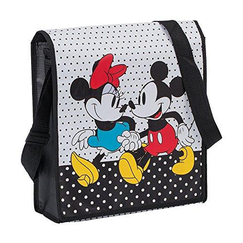 Vandor Power Rangers Umhängetasche aus recyceltem Material Disney Mickey und Minnie 15 x 13 x 5 Inches Red/Black/White/Yellow