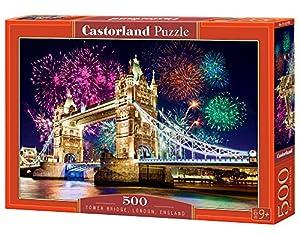 CASTORLAND Tower Bridge, England 500 pcs Puzzle - Rompecabezas (England 500 pcs, Puzzle Rompecabezas, Ciudad, Niños y Adultos, Niño/niña, 9 año(s), Interior)