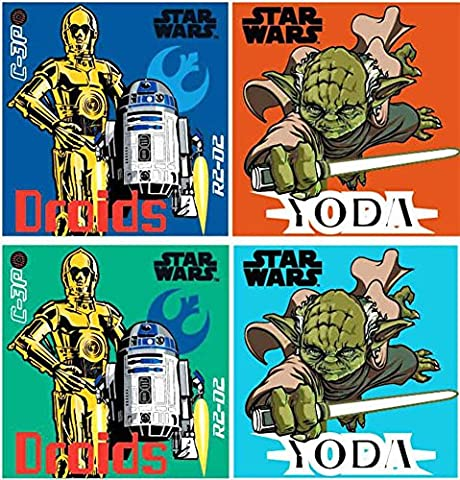 Disney Star wars Lot de 4 gants de toilette à laver tache