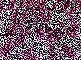 Leopard Animal Print Mikrofaser Crepe Kleid Stoff