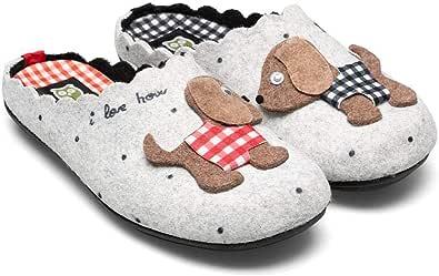 Slippers Dogs - Scarpe da ginnastica da donna, invernali, autunno, colore: grigio