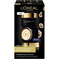 L'Oréal Paris Gesichtspflege Set, Age Perfect Zell-Renaissance, Anti-Aging Tagespflege und Nachtpflege, Regeneration und…