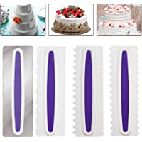 POKIENE Kit de 4Pcs Spatules à Pâtisserie, Grattoir pour Glaçage de Mousse, Lisseur Gâteau, DIY Outil pour Glaçage…