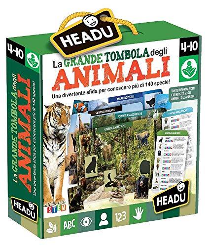 Headu La Grande Tombola degli Animali. Divertente sfida per conoscere più di 140 specie!