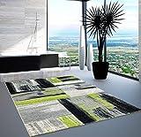carpet city Teppich Modern Designer Wohnzimmer Shake Farbverlauf Grün Grau 120x170 cm
