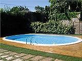 Piscine enterrée ovale 8.00mx4.00m - Hauteur 1.50m - filtration 10m3/h