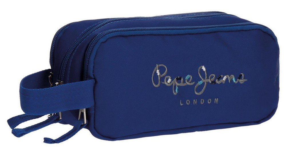 Pepe Jeans Harlow Blue Beauty Case Three compartments